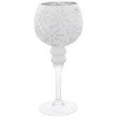 Snowflake Glass Candle Holder