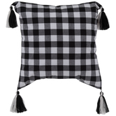 Buffalo Check Pillow Cover With Tassels