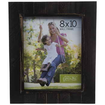 Black & Gold Pallet Look Wood Wall Frame