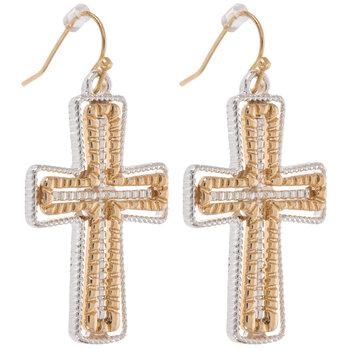 Layered Cross Earrings
