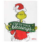 Count Your Blessings Grinch Canvas Wall Decor