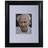 """Black Beveled Wood Wall Frame - 8"""" x 10"""""""