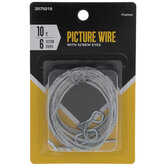 Picture Wire With Screw Eyes