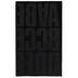 Black Block Flocked Iron-On Applique Alphabet - 3