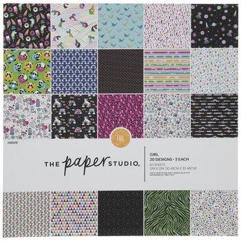 "Multi-Color Girl Foil Paper Pack - 12"" x 12"""