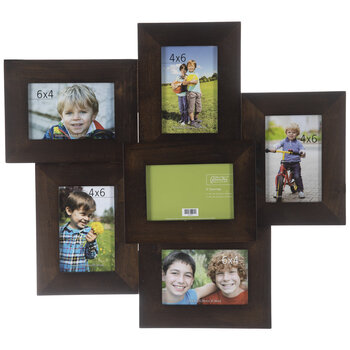 Coffee Collage Wood Wall Frame