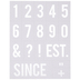 Number Doormat Stencil