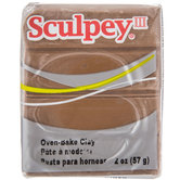 Hazelnut Sculpey III Clay - 2 Ounce
