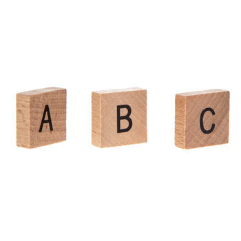 Wood Alphabet Tile Embellishments