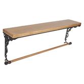 Scroll & Rod Wood Wall Shelf