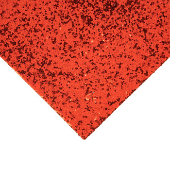 Red Chunky Glitter Fabric Sheet