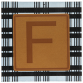 Plaid & Leather Letter Wood Wall Decor - F