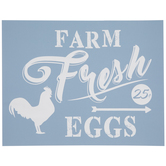 Farm Fresh Eggs Adhesive Silkscreen Stencil