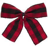 Red & Black Buffalo Check Twist Tie Bows