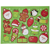 Glitter Christmas Icons Adhesive Gift Tags