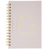 Pink & Gold Foil Letter Journal - G