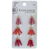 Red Seed Bead Tassel Charms