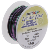 Pink, Black & Green Artistic Wire - 18 Gauge