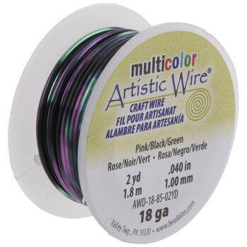 Pink, Black & Green Artistic Wire - 18 Gauge