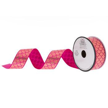 """Mermaid Scale Taffeta Ribbon - 1 1/2"""""""
