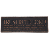Proverbs 3:5-6 Nameplate