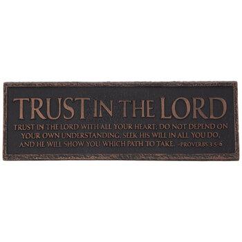 Proverbs 3:5-6 Desk Plate