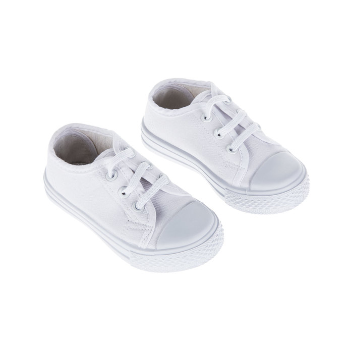 White Canvas Toddler Sneakers | Hobby Lobby