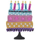 Birthday Cake Glitter & Rhinestone Sticker