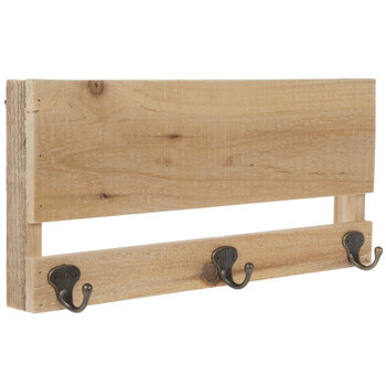 Pallet Wood Wall Decor With Hooks