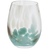 Turquoise Marble Stemless Glass