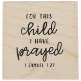 1 Samuel 1:27 Rubber Stamp