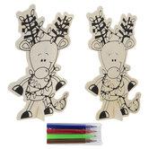 Reindeer Wood Craft Kit