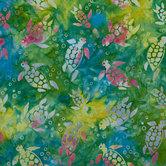 Sea Turtle Batik Cotton Fabric