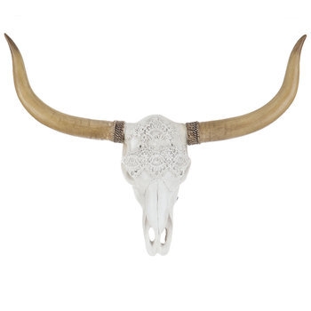 Longhorn Skull Wall Decor With Lace