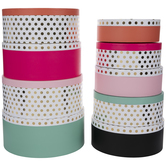 Foil Polka Dot Round Box Set