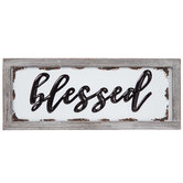 Blessed Enamel Wood Wall Decor