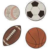 Sports Balls Paper Shapes