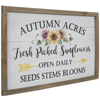Fresh Picked Sunflowers Wood Wall Decor
