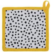 White, Black & Yellow Dot Pot Holder