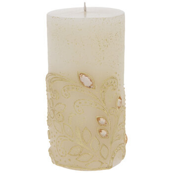 Jeweled Pillar Candle