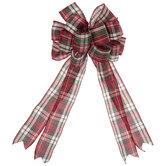 Red, Green & Cream Plaid Bow