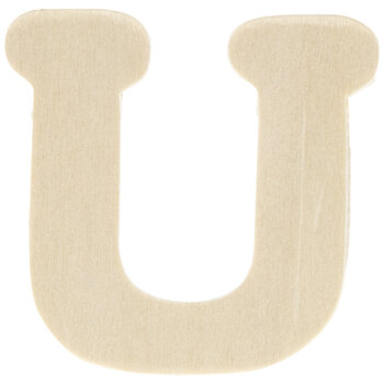 "Wood Letters U - 1 3/4"""
