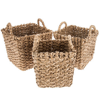 Natural Tall Rush Basket Set