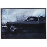 Black Mustang Framed Wall Decor