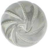 Clear Spiral Glass Knob