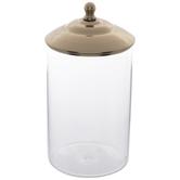 Gold Ornate Glass Jar