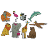 Stylish Zoo Animals Foam Stickers