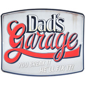 Dad's Garage Metal Wall Decor