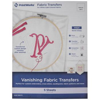 Inkjet Vanishing Fabric Transfers