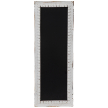 Chalkboard With Whitewash Beaded Frame